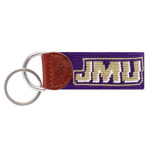 Smathers & Branson Collegiate Needlepoint Key Fob - James Madison University - JMU