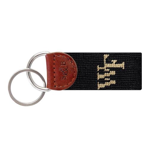 Smathers & Branson Collegiate Needlepoint Key Fob - Wake Forest - black