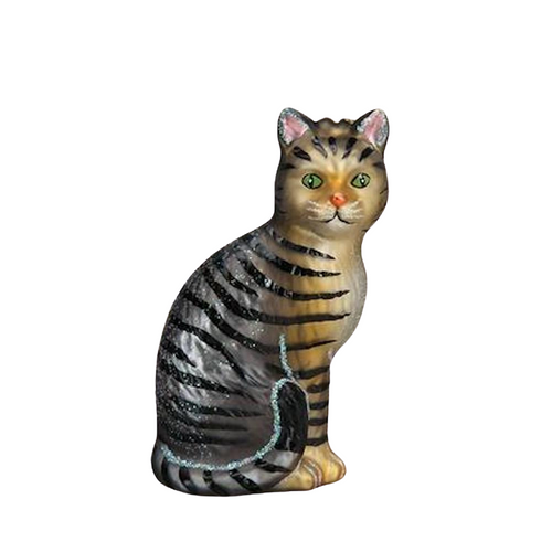 Old World Tabby Cat Christmas Ornament