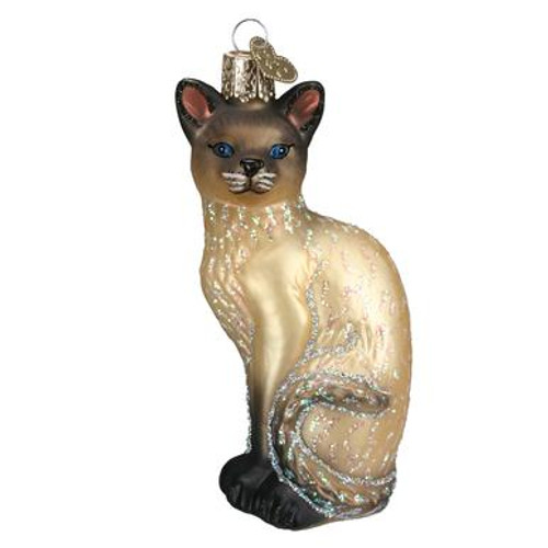 Old World Siamese Cat Christmas Ornament