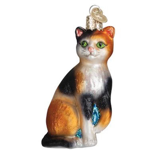 Old World Calico Cat Christmas Ornament