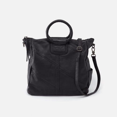 HOBO Sheila Convertible Crossbody Bag - Washed Black