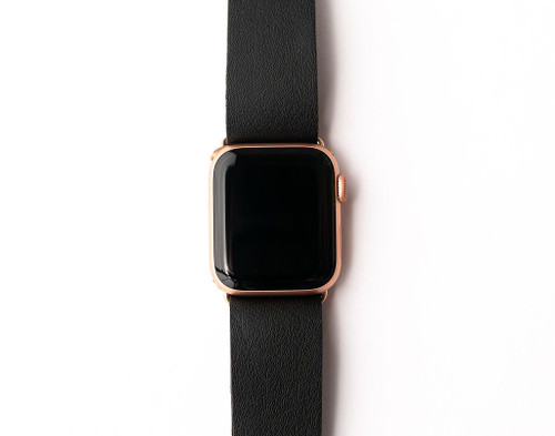 KEVA Watch Band - Black Leather