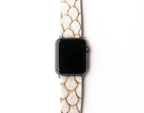 KEVA Watch Band - Cream Scalloped