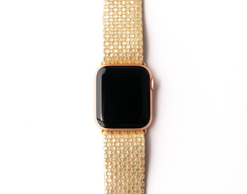 KEVA Watch Band - Gold Cobblestone