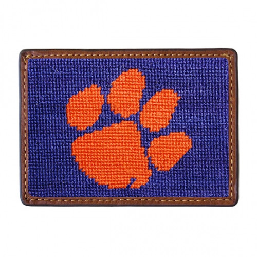 Smathers and Branson - Clemson University Credit Card Needlepoint Wallet