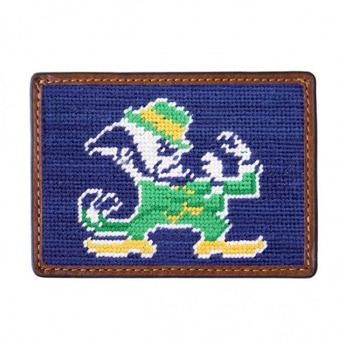 Smathers and Branson -  University of Notre Dame Credit Card Needlepoint Wallet