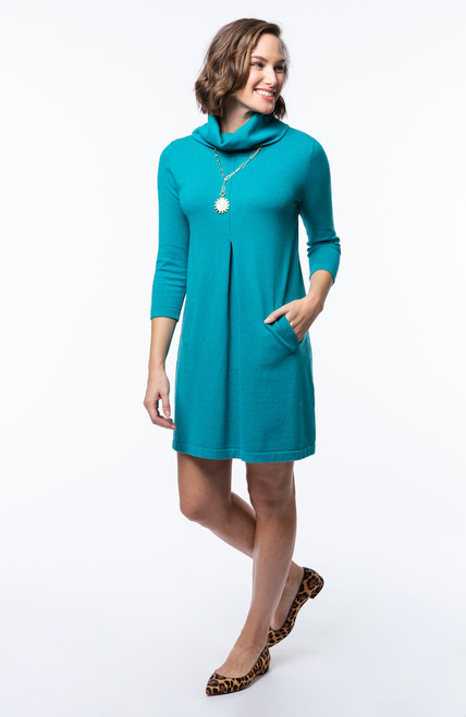 Tyler Boe Kim Dress - Cotton Cashmere Teal