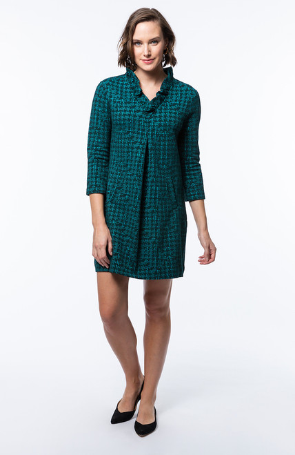 Tyler Boe - Constance Dress – Teal Jigsaw