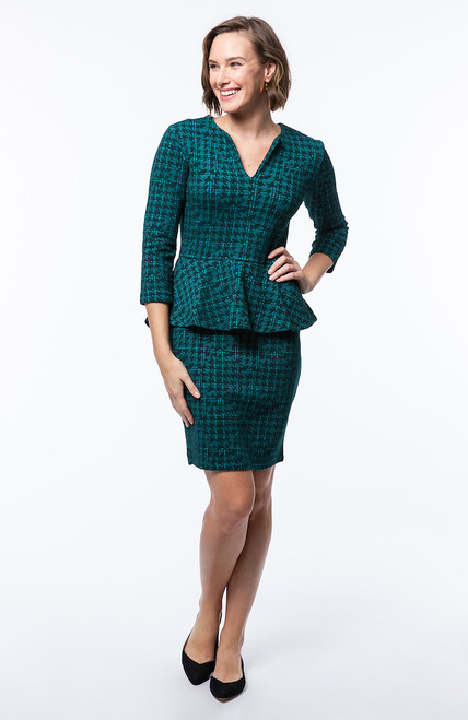 Tyler Boe - Cecilia Dress – Teal Jigsaw