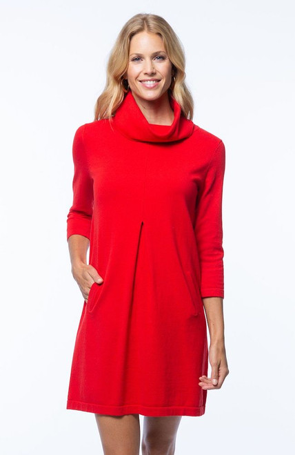 Tyler Boe Kim Dress - Cotton Cashmere Red