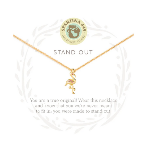 Spartina Sea La Vie Necklace - Stand Out Flamingo
