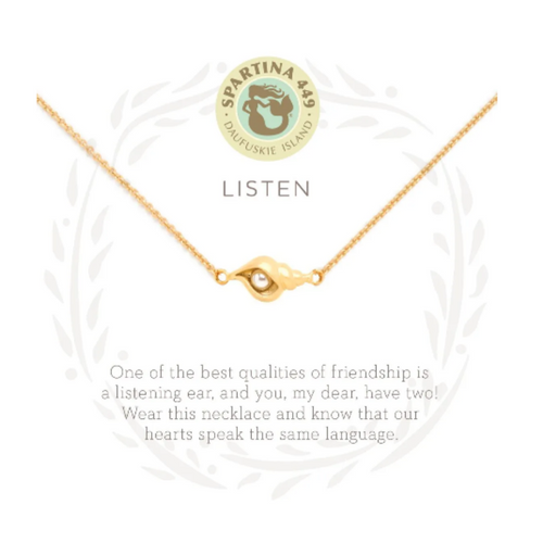 Spartina Sea La Vie Necklace - Listen Shell