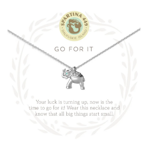 Spartina Sea La Vie Necklace - Go For It Elephant