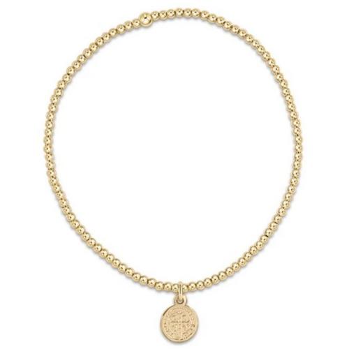 enewton Classic Gold 2mm Bead Bracelet - Blessing Small Gold Charm