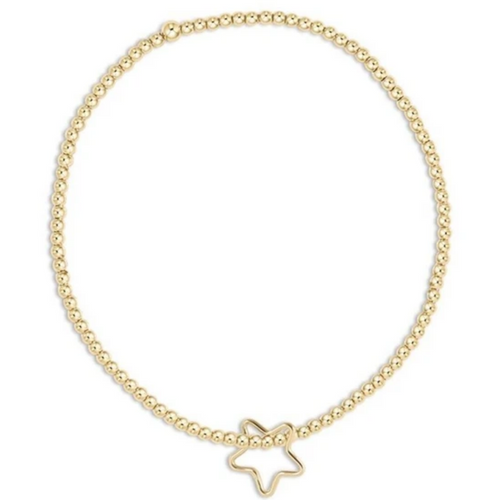 enewton Classic Gold 2mm Bead Bracelet - Star Gold Charm