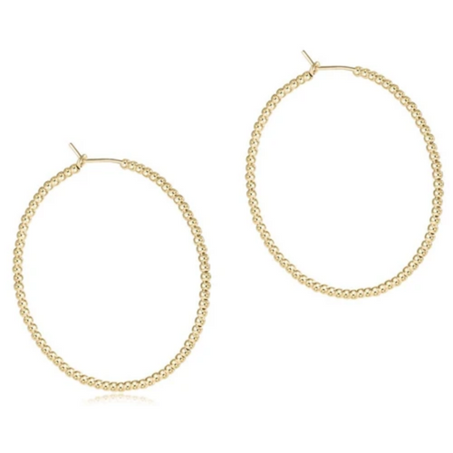 "enewton Beaded Gold 1.75"" Hoop - 2mm Bead Gold"