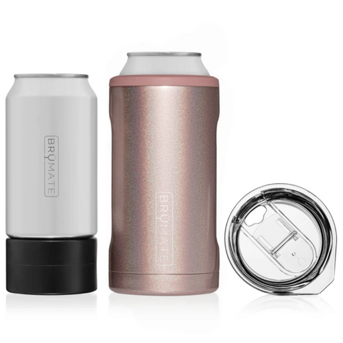 Brumate Hopsulator Trio 3-in-1 Can Cooler - Glitter Rose Gold