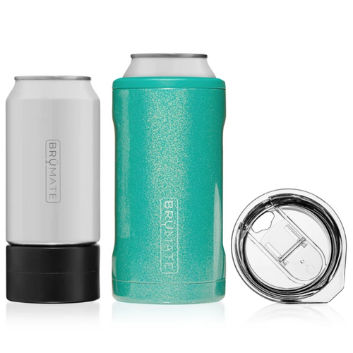 Brumate Hopsulator Trio 3-in-1 Can Cooler - Glitter Peacock