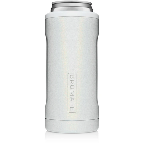 Brumate 12oz Slim Can Cooler - Glitter White