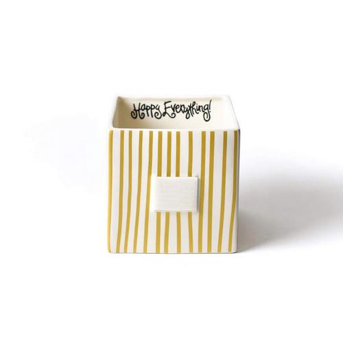 Medium Mini Nesting Cube - Gold Stripe