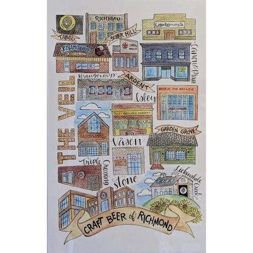 Richmond Breweries 11x17 Art Print