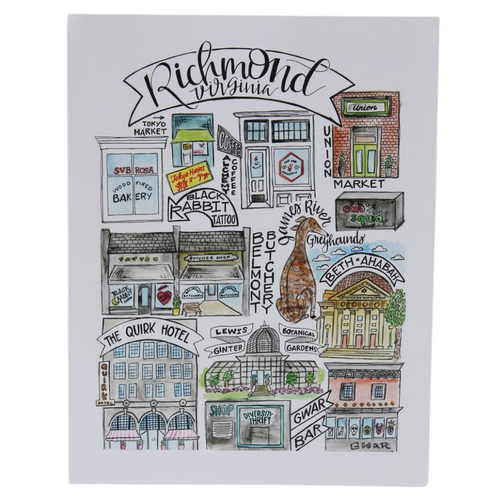 Richmond Classics  8.5x11 Art Print - Version 2