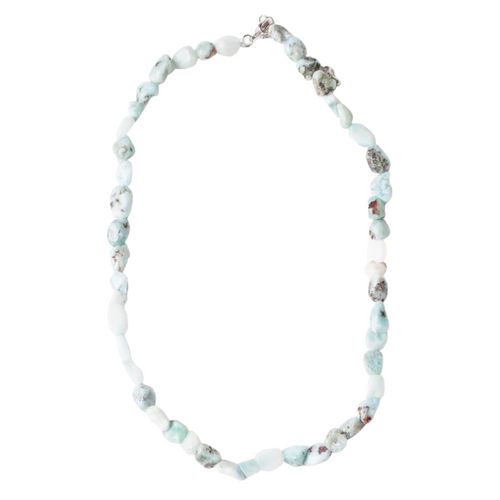 "16"" Larimar Beaded Abigail Necklace"
