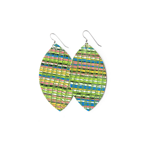 Keva Large Leather Earrings -Positano