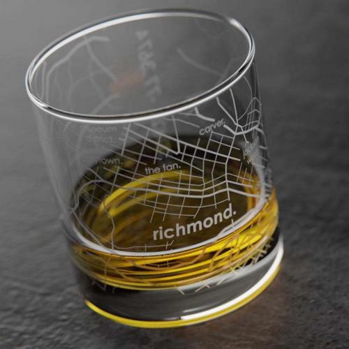 Richmond Map Rocks/ Whiskey Glass