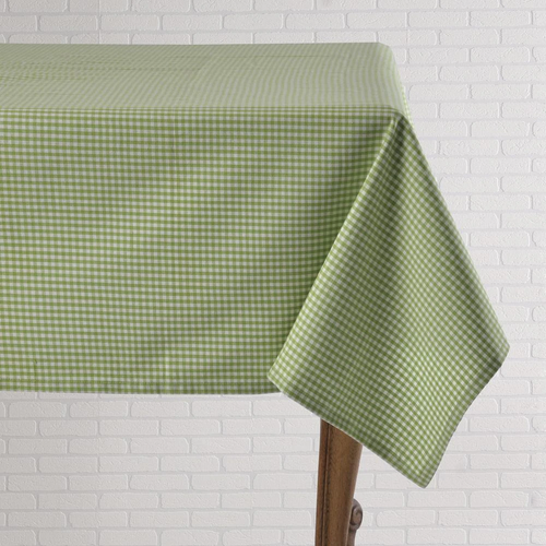 """Green Gingham - 60"""" x 120"""" Tablecloth"""