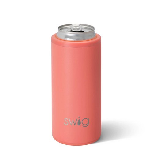 Skinny Can Cooler - Matte Coral