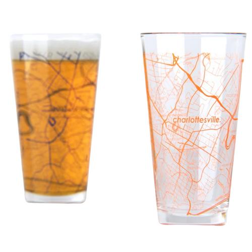 UVA Map Pint Glasses - Set of 2