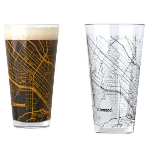 VCU Map Pint Glasses - Set of 2