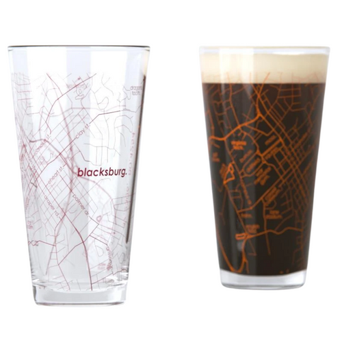 Virginia Tech Map Pint Glasses - Set of 2