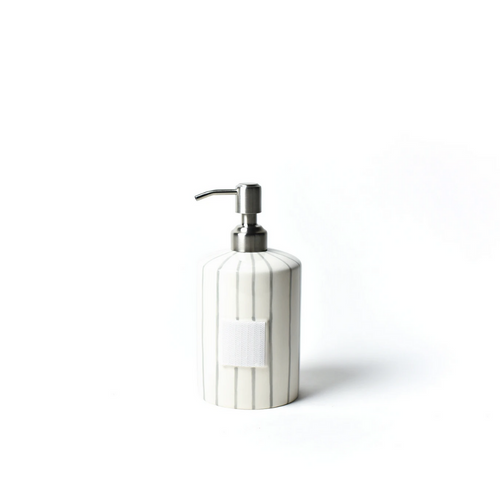 Mini Happy Everything Soap Pump - Stone Skinny Stripe