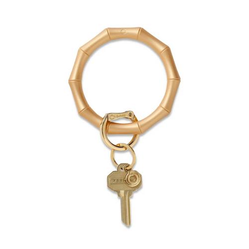 Big O Bamboo Silicone Key Ring - Gold Rush