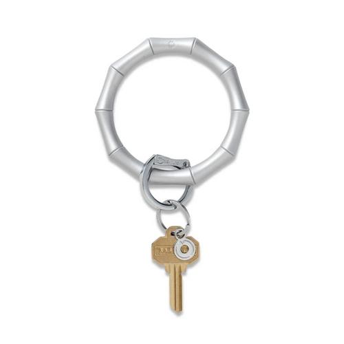 Big O Bamboo Silicone Key Ring - Quicksilver