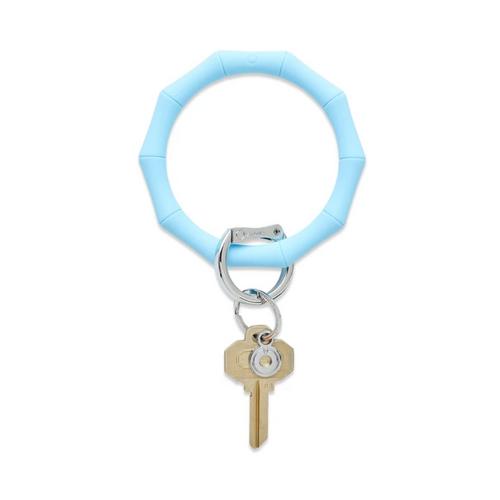 Big O Bamboo Silicone Key Ring - Sweet Carolina Blue