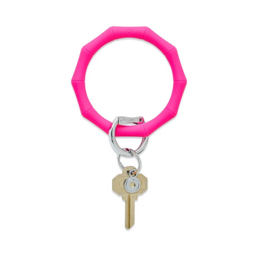 Big O Bamboo Silicone Key Ring - Tickled Pink