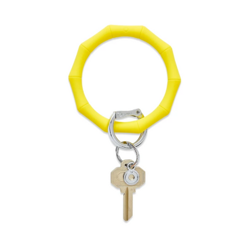 Big O Bamboo Silicone Key Ring - Yes Yellow