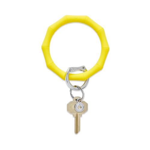 Big O Bamboo Silicone Key Ring - Yes Yellow