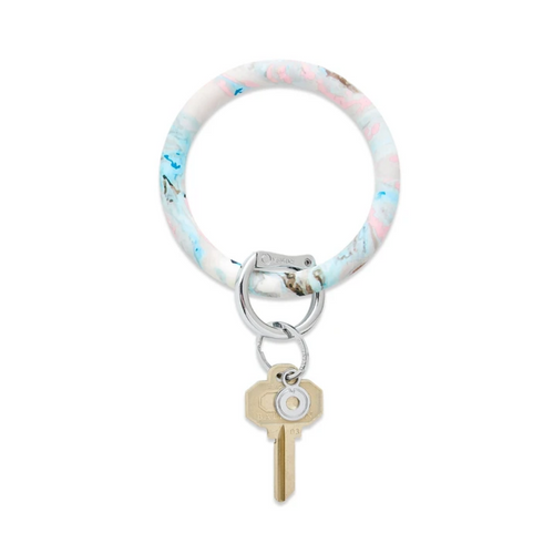 Big O Silicone Key Ring - Pastel Marble