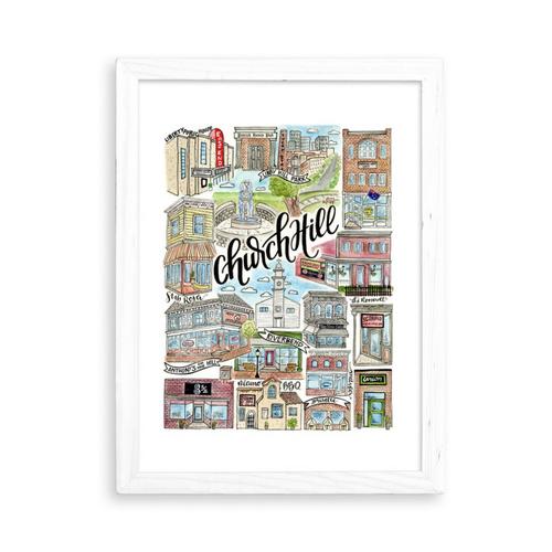 Church Hill 8.5x11 Art Print