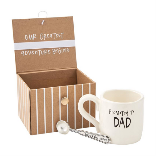 Dad Coffee Baby Announcement Gift Set