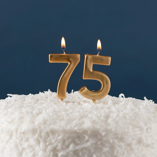 Number Birthday Candle - Gold