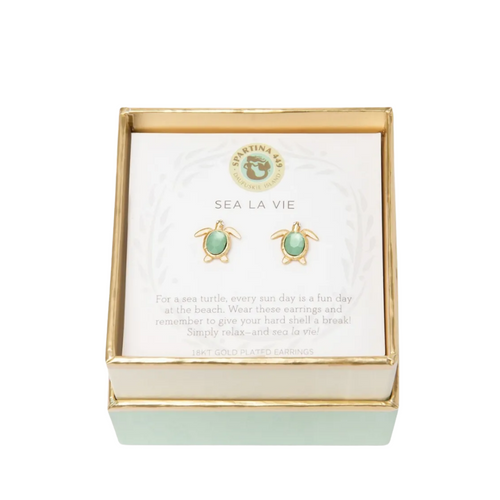 Spartina Sea La Vie Earrings - Sea Turtle Stud