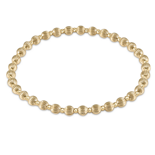 enewton Dignity Grateful Pattern 4mm Bead Bracelet - Gold