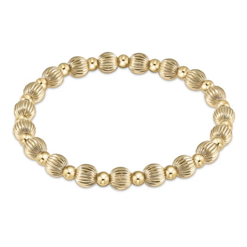 enewton Dignity Grateful Pattern 6mm Bead Bracelet - Gold