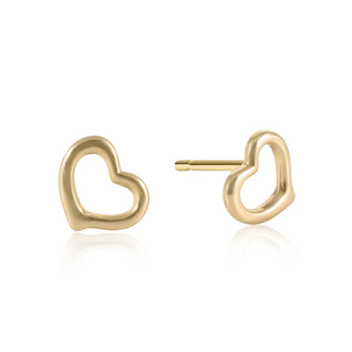 eNewton Love Stud Earrings - Gold